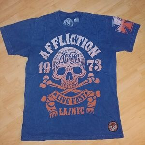 Mens LG. Affliction tshirt